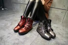 Wholesale Ladies ASH boots boots leather solid European fashion cattle fur youth power stepping inside Quanzhen Mao