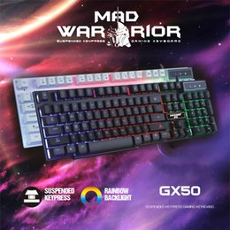 Backlit Gaming Keyboard Silica gel keycap LED 3 Color BackLight USB Wired Game Controller with similar mechanical feel Teclado Gamer