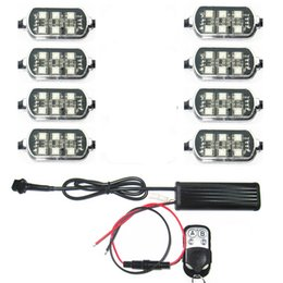 Remote 8 Pods Multi-Color Accent Glow Neon RGB 5050SMD LED Light Kit Universal for Truck Car Motorcycle Boat