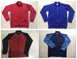 Wholesale Whosales MaNchEsTer Kun Aguero jacket Traning Jacket long track Coat Suit Survetement Coat best thai FULL Ibrahimovic Pogba Unitedd