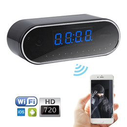 Wireless Wifi IP Camera HD 720P P2P Camera Mini Camcorder Spy Clock Camera Support IOS Android Smartphone Tablet