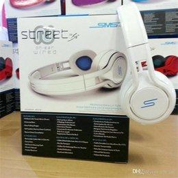 Rue sms via un casque d'oreille à vendre-50 Cent casque anti-bruit casque casque DJ écouteurs Apple écouteurs 50cent STREET Audio SMS filaire sur oreille casque écouteurs