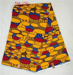 Wholesale Sewing or craft material real wax fabric for african chic girls yard NA