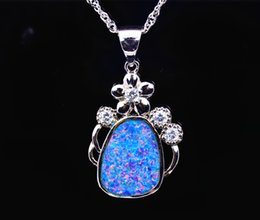 Wholesale & Retail Fashion Jewelry Fine Brown Fire Opal Stone Pendants For Women PJ17082703