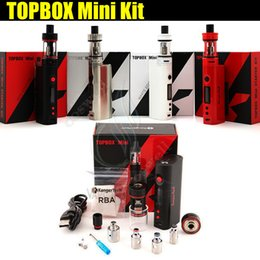 Wholesale Top quality Kanger Topbox Mini W TC Starter Kit Kangertech KBOX Mini Box Mod Toptank pro SSOCC Atomizers Vapor mods subox nano e cigs DHL