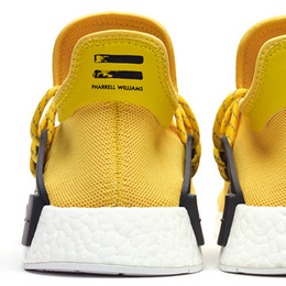 Wholesale Highly Anticipated NMD Human Race Running Shoes Men Women Pharrell Williams NMD Runner Boost Shoes Yellow Grey Black White Red Green Blue