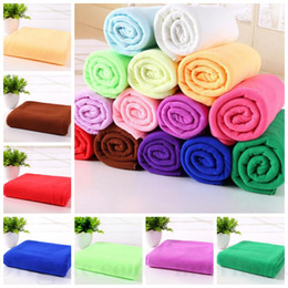 Wholesale Microfiber Bath Towels Absorbent Beach Towel Super Soft Shower Towels Spa Body Wrap Travel Camping Towels Washcloth Drying Swimwear D36