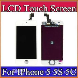 High quality LCD Display Touch Digitizer Complete Screen with Frame Full Assembly Replacement for iPhone 5 5S 5C A-LCD