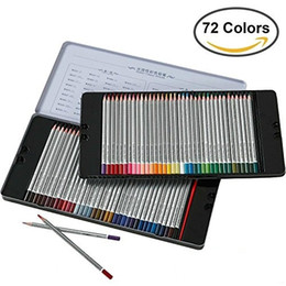 Wholesale HERO Color Tin Case Fine Art Colored Pencils Set Soft Core Watercolor Soluble Pencil for Adult Coloring Books