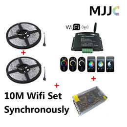 10M 12V 600 SMD LED 5050 RGB Waterproof IP65 Strip Light + 1PC WIFI RGB Remote Controller + 1PC 12V 12.5A 150W CE CB Power Unit
