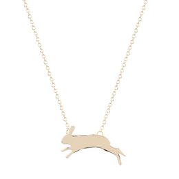 Wholesale 10pcs Gold Silver Jumping Running Rabbit Bunny Necklace Women Jewelry Long Necklace Boho Design Best Jewelry