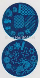 10PCS 5.6CM hehe 5.6cm Round Nail Stamp Plate+1 Sets XL Lager Double White Color Silicon Image Stamp with Plastic Scraper#A015
