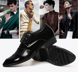 2016 men's business leather shoes pointed Korean version of the British leather lace-up casual leather men's dress shoes youth