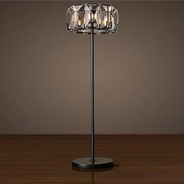 floor lamp crystal led standing lamps for living room study room crystal bedroom lamp clear K9 crystal floor lamp 110V 220V