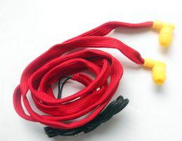 Red Washable Earphone Drawcord Earbud   clothes washable earphones hoodie built-in MP3 waterproof headphone 1000pcs lot