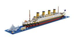 LoZ Building Blocks - TITANIC Ship 22''L 1860pcs of bricks nanoblock gift toy puzzle minifigure No Box FREE Shipping