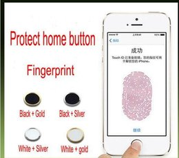 Wholesale Touch id aluminum home button sticker Support Fingerprint Indentification System for iphone6 plus iphone5s ipad mini ipad air