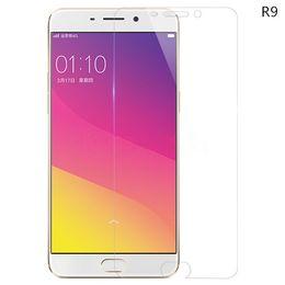 Promotion oppo chinois Oppo R9 HD Clear Protecteur d'écran en verre trempé 2.5D Protecteur d'écran Edge ronde pour les marques chinoises pour Iphone pour Samsung galaxie - YH0142