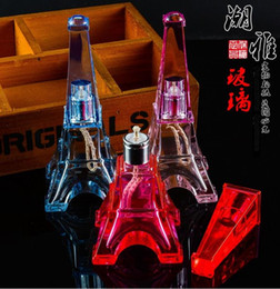 Tower in Paris stained alcohol lamp --glass hookah smoking pipe Glass gongs - oil rigs glass bongs glass hookah smoking pipe -