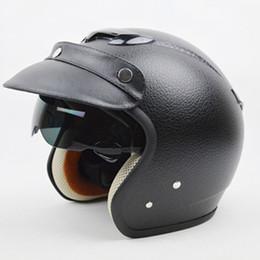 Cascos de carreras de la vendimia en venta-Casco de la motocicleta de los capacetes de Casco que envía libremente el estilo de cuero retro 3/4 del crusie de los cascos de la vendimia de la cara abierta que compite con los cascos