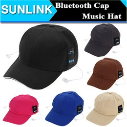 Wholesale Special Bluetooth Music Earphone Hat Baseball Caps Sunhat with Bluetooth Travel Sport Bluetooth Headset Stereo Headphone Earphone