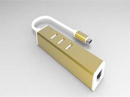 Wholesale USB Type C Hub to Gigabit Ethernet RJ45 LAN Hub Network Adapter with Port USB Hub Type C Converter