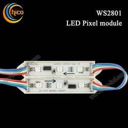 High Quality WS2801 LED Module 3 LEDs 5050 IP65 DC2V 0.72W RGB LED Pixel Light