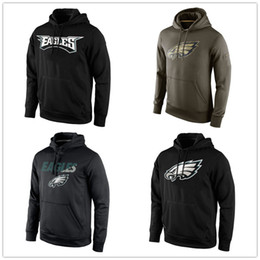 Wholesale Philadelphia Eagles KO Wordmark Performance Pullover Hoodie Olive Salute Service KO Performance Green Hoodie