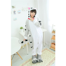 Cosplay New Arrival Cartoon Homewear Lovely Cheese Cat Pajamas Comfy Coral Fleece Adult Women's Pajamas Homewear