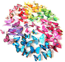 7CM NEW Home Decoration Artificial 3D Butterfly Fridge Magnet Sticker Refrigerator Magnets