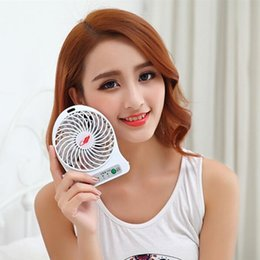 Wholesale USB Mini Portable Fan li ion Rechargeble Battery Powered Outdoor Camping office Cooler Mah battery