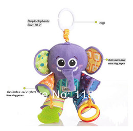 Wholesale Lamaze baby toys plush elephant Lamaze baby development toy felt boards baby rattles toys cartoon elephant Plush