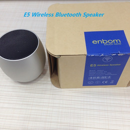 Wholesale 2016 E5 Enbom Wireless Speaker Bluetooth Mini Music Player Small Egg TF Home Stereo Intelligent Voice Prompts Receive calls For Iphones Mi