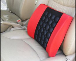 Wholesale Hot Sale Safe Relax Muscle Lumbar vertebra Massage for Home Office Car Back Seat Lumbar Support Cushion Pillow Car Seat Covers