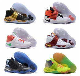 Wholesale 2016 Kyrie Irving Men Basketball Shoes Kyrie Black Glod Tie Dye BHM All Star Kyrie s Basketball Sneakers With High Quality Size