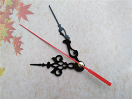 50PCS Black Clock Three Hands Clock Arms with Red Second Hand for DIY Clock