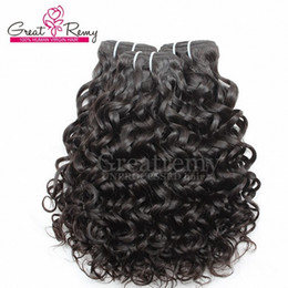 Wholesale Water Wave Hair Extension Virgin Brazilian Hair Weave Weft Big Curly Unprocessed Remy Human Hair Bundles Natural Color Dyeable