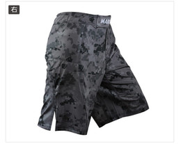 Wholesale Camouflage Pant Wide Leg - 2016 New Real Boxe Short Muay Thai Warrior Men Camouflage Mma Fitness Training Pants Grappling Shorts Way Spandex Fabric