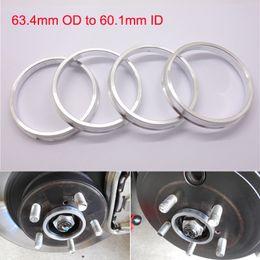 4pcs Brand New Wheel Hub Centric Rings 63.4mm OD to 60.1mm ID Aluminium Alloy