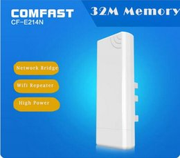 Wholesale WIFI repeater km long coverage Outdoor waterproof antenna CPE COMFAST CF E214N wireless poe cpe access point All Weather