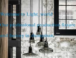 Modern brief shadows led crystal glass cord pendant light smoke gray White dining room Bar chandeliers light 1357