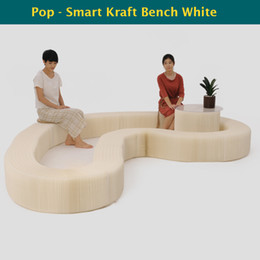 H28xL600cm Novel Innovation Furniture Pop-Smart Bench Indoor Universal Waterproof Accordion Style Foldable Kraft Chair For 12 Seats 71-1038