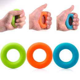 Compra Online Ejercitador de agarre-7cm Fuerza Mano de los dedos Apoyo Músculo Poder Entrenamiento Anillo de goma Ejercitador Deporte Músculo Poder Entrenamiento 30KG 40KG 50KG