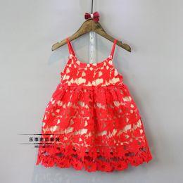 Wholesale Spring Clothes Arrival For Kids - Girls Princess Dress for Kids Clothes 2016 New Arrival Embroidery Lace Tutu Dress Korean Fashion Cotton Flowers Girls Party Dress
