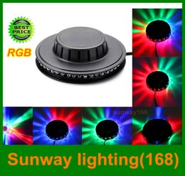 Wholesale 2016 Mini LED Laser DJ lights RGB little Sun led Music stage lighting Auto Control Sound Active for Bar DJ Party Wedding Projector