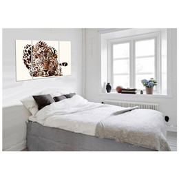 Wholesale 3 Picture Combination Modern Printed Leopard Landscape Painting Picture Canvas Art Animal Painting For Living Room Bed Room Decoratrion