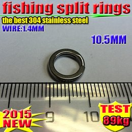 Fishing Lure Accessories best 304 stainless steel Split Rings 1000 PCS  lot 10.5 MM 2016 new arrial