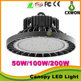 Wholesale CREE Chip Meanwell driver W W W UFO LED High bay light lm W super bright warehouse exhibition lighting Lamp years Warranty