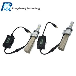 Wholesale 1 Set H7 S PHILI LED Headlight Kit System LUXEON ZES LED Chips All in One Fanless Aluminum Belt Driving Fog Single Lamp