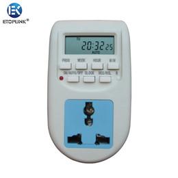 Wholesale EK Energy Saving Timer Programmable Electronic Timer Socket Digital Timer EU UK Plug Newest LCD Display Electronic Devices